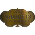 Vault13 Tattoo Parlour logo gold
